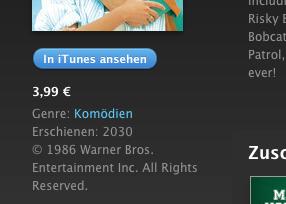 iTunes hat Filme aus der Zukunft