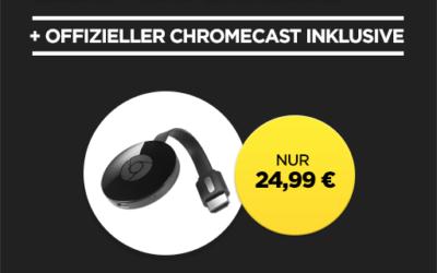 Chromecast + Film in HD für 24,99 EUR bei Wuaki