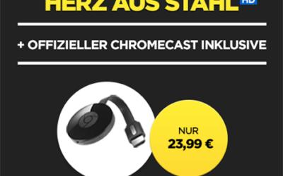 Chromecast + Film in HD für 23,99 EUR bei Wuaki